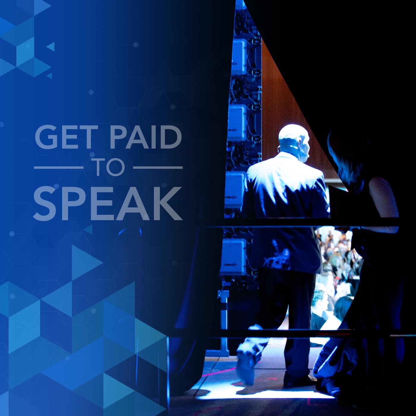 Get Paid To Speak show art