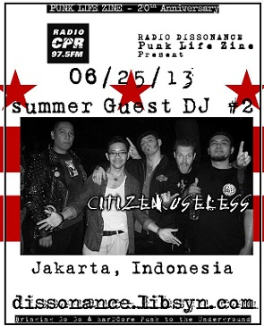 Guest DJ Jason McKenzie, Citizen Useless, Jakarta, Indonesia with Punk Life Zine