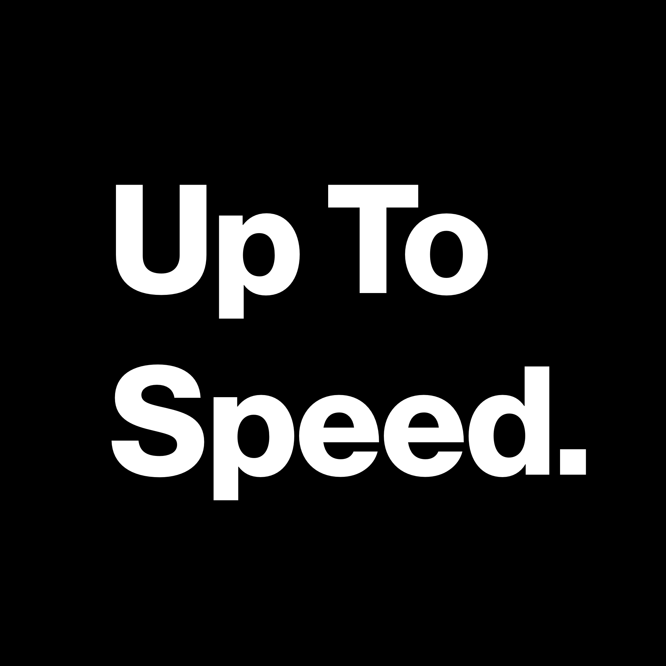 Up To Speed: A Verizon podcast show art