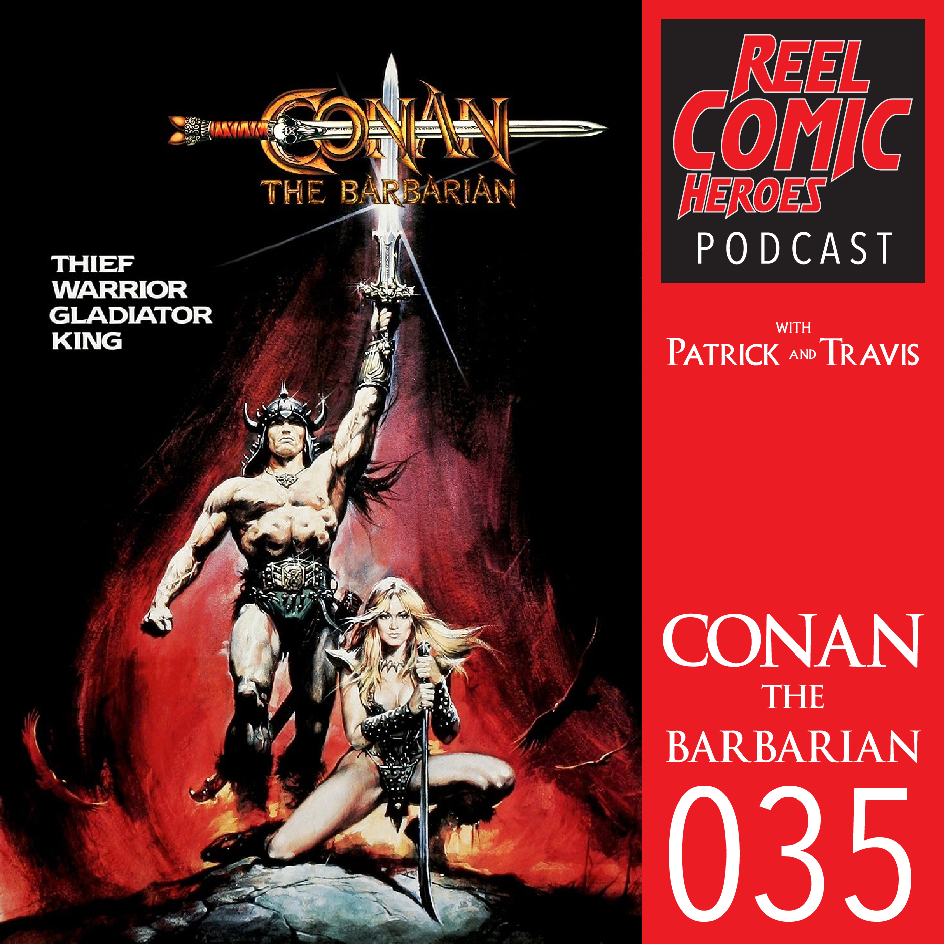 Artwork for Reel Comic Heroes 035 - Conan the Barbarian with Pete McCue
