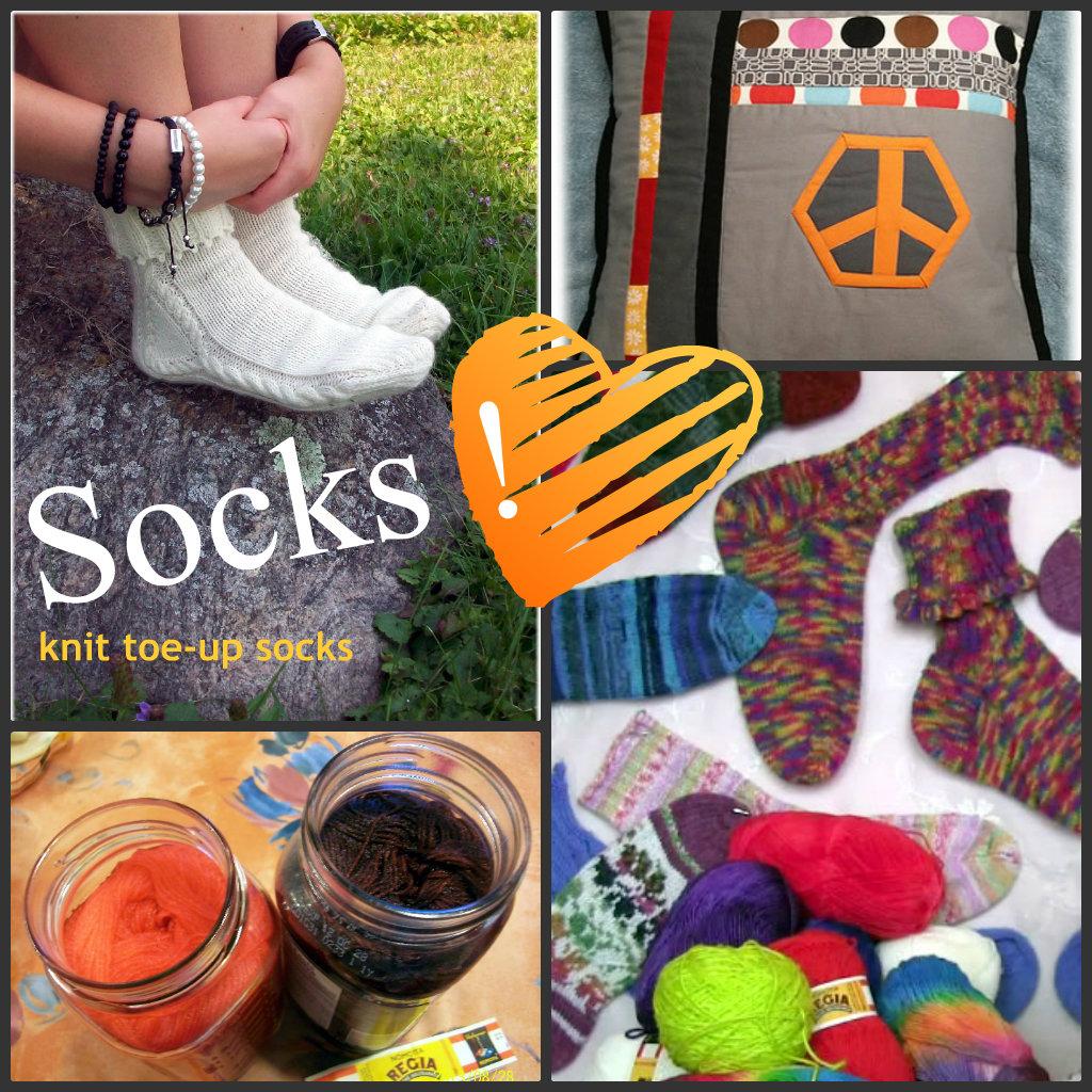 6 Socks Toe-Up
