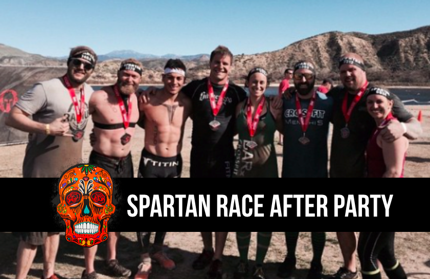 Spartan Race afterparty with the Barbell Shrugged crew