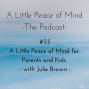 Artwork for Episode 55 - A Little Peace of Mind for Parents and Kids with Julie Brown