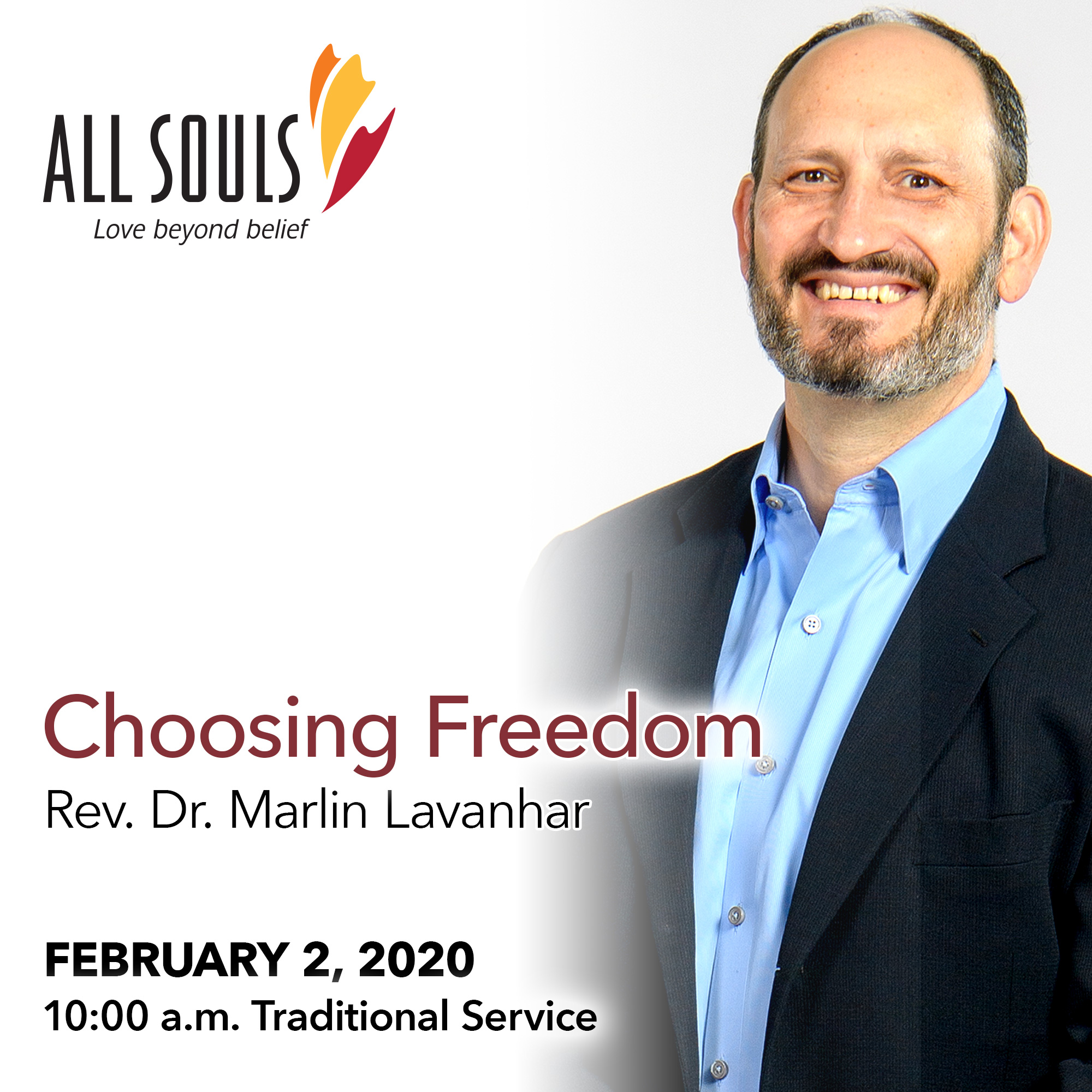 'CHOOSING FREEDOM' - A sermon by Rev. Dr. Marlin Lavanhar (Traditional Service) show art