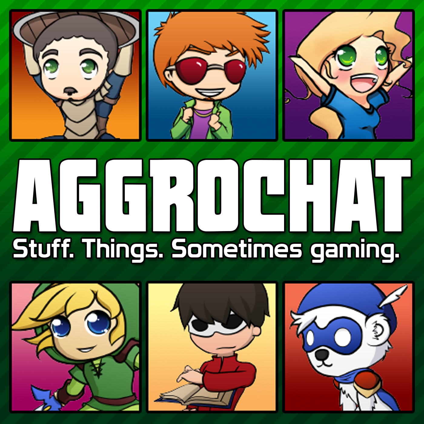AggroChat: Tales of the Aggronaut Podcast logo