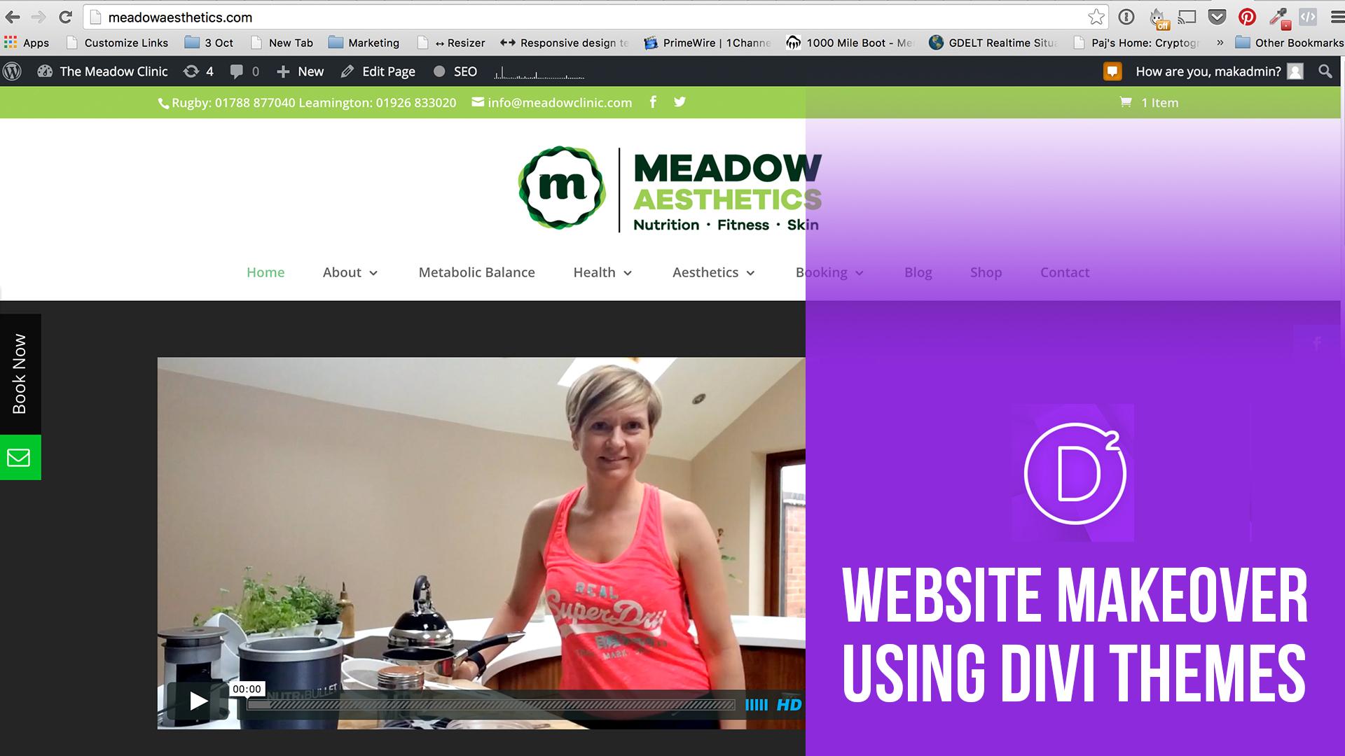 How to do a website makeover using Divi Elegant themes