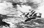 """Artwork for THE WRECK OF THE ROYAL CHARTER"""" by CHARLES DICKENS"""