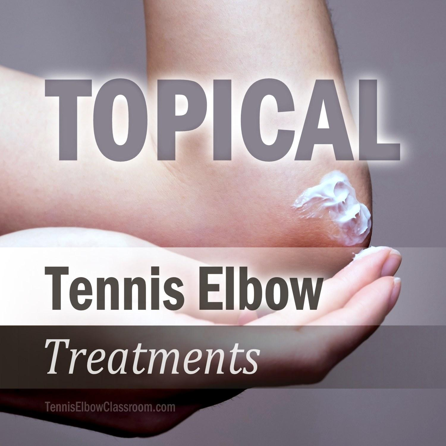 Podcast Cover for Topical Tennis Elbow Treatments