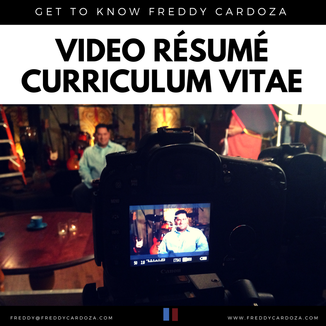 Artwork for Video Resume for Dr. Freddy Cardoza