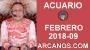 Artwork for ACUARIO FEBRERO 2018-09-25 Feb al 3 Mar 2018-Amor Solteros Parejas Dinero Trabajo-ARCANOS.COM