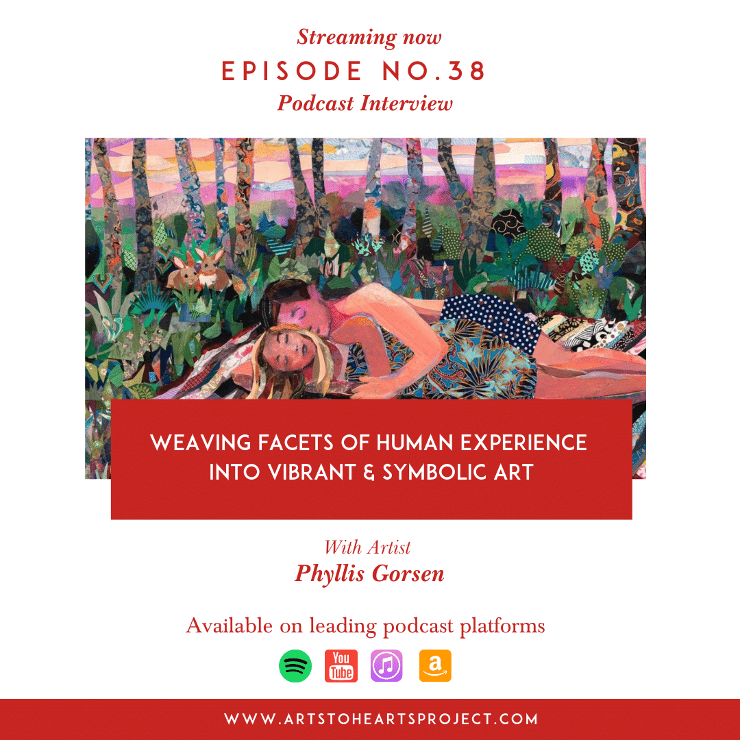 Weaving facets of human experience into vibrant & symbolic art with Artist Phyllis Gorsen