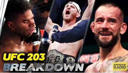 Submission Radio #99 TJ Dillashaw, Demetrious Johnson, Elias Cepeda + UFC 203