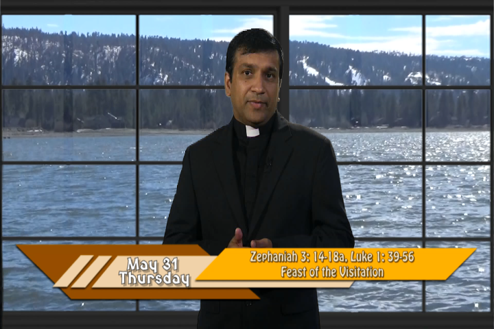 Artwork for iGod Today with Fr. Biju Thomas, SVD;  Today's topic:  Feast of the Visitation