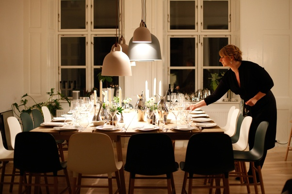 Setting up for a dinner party