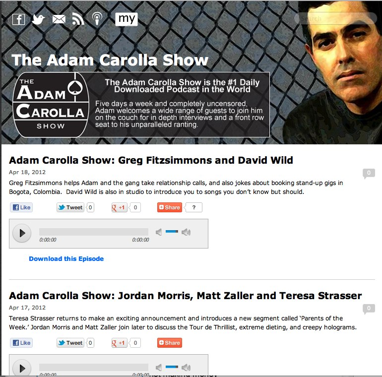 adam carolla exclusively on mylibsyn