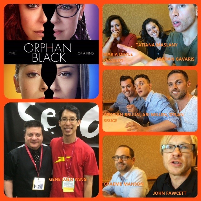 Episode 559 - Even More SDCC w/ Orphan Black (Tatiana Maslany/Jordan Gavaris/Maria Doyle Kennedy/Ari Millen/Dylan Bruce/Kristian Bruun/Graeme Manson/John Fawcett) and Gene Luen Yang!