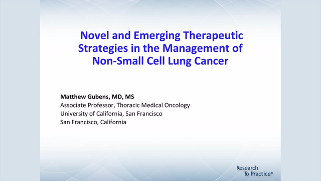 Artwork for Lung Cancer | Novel and Emerging Therapeutic Strategies in the Management of Non-Small Cell Lung Cancer
