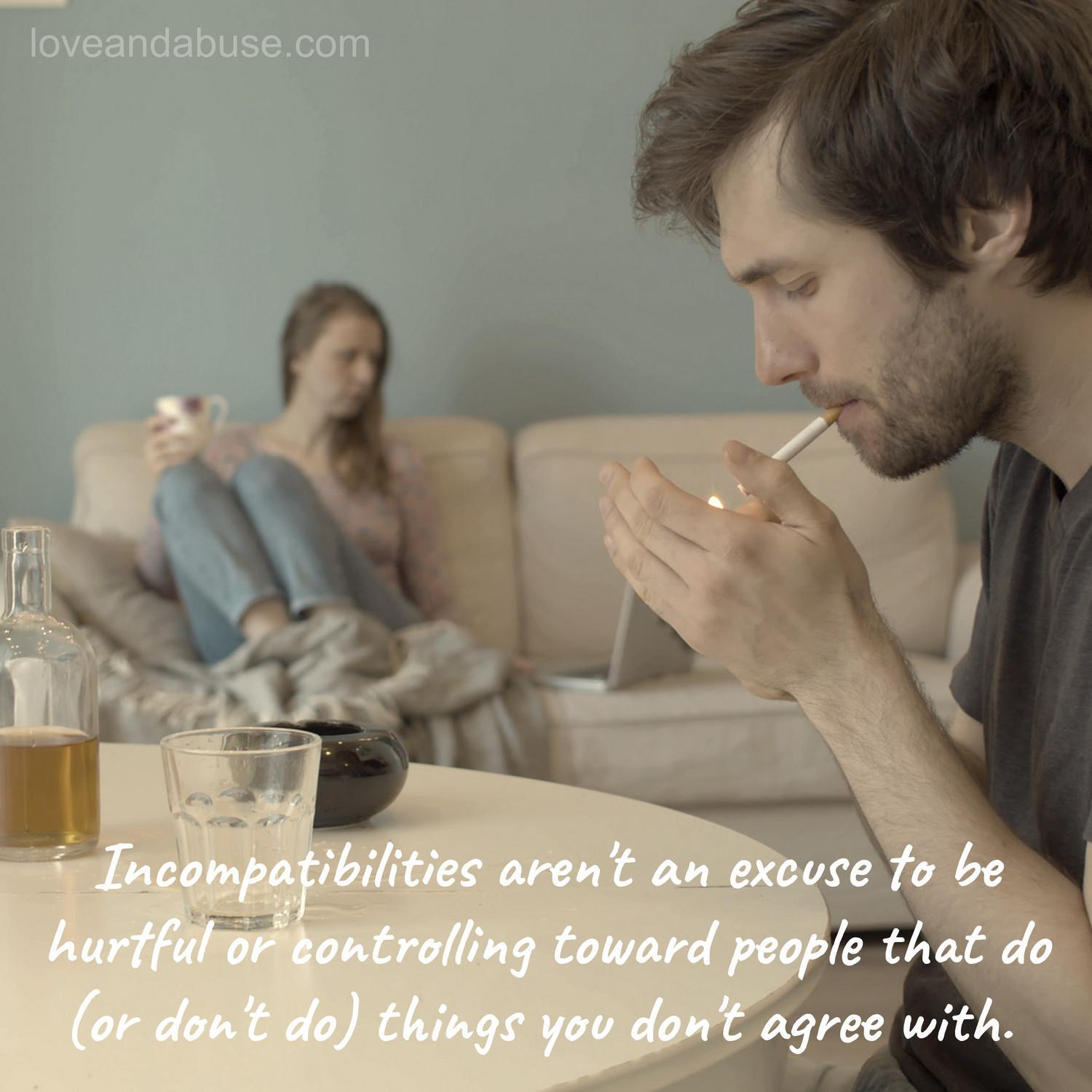 How incompatibility can lead to hurtful and emotionally abusive behavior