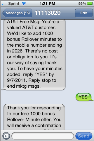AT&T Rollover Minutes special offer