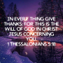Artwork for Week 6 In Him Scripture Study / Give Thanks In All Things For This Is God's Will In Christ Jesus Your Lord And Savior
