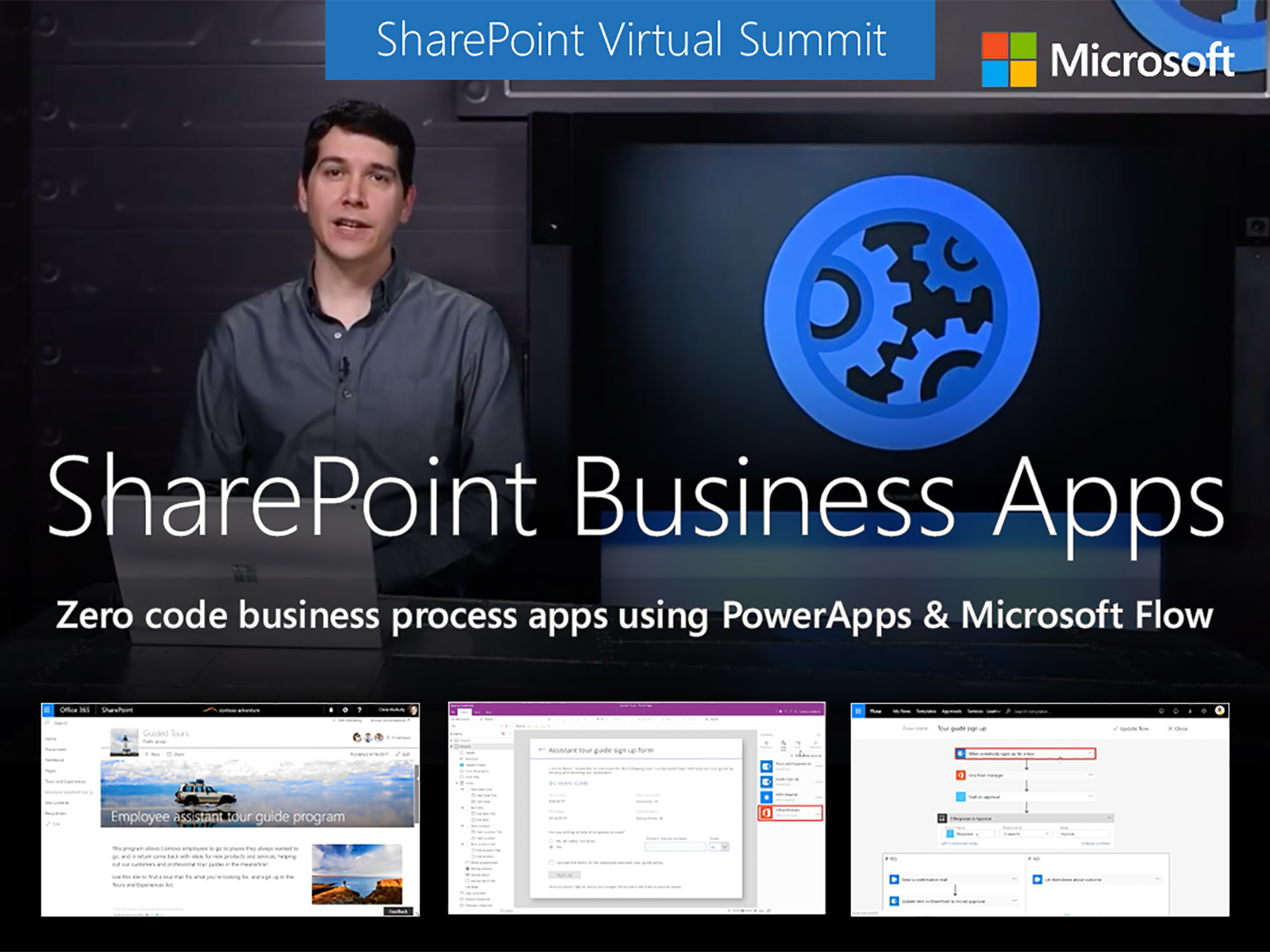 Artwork for Zero code business process apps in SharePoint with PowerApps and Microsoft Flow