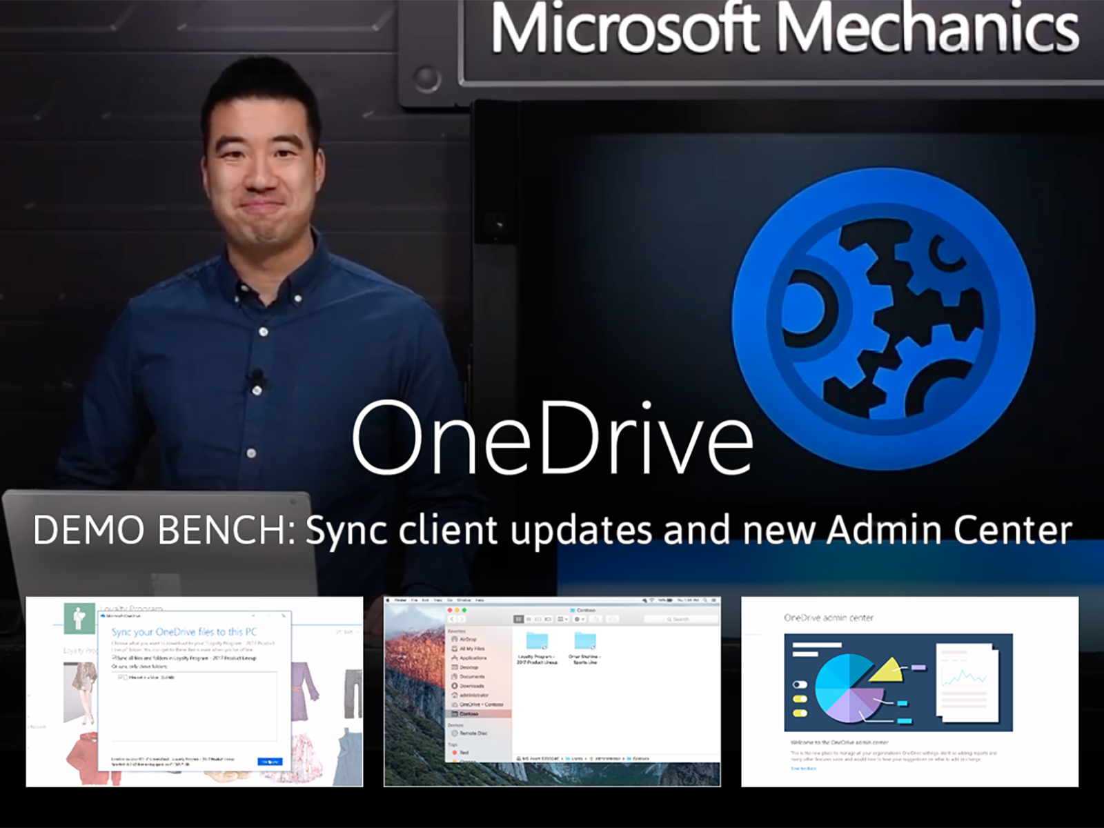 Artwork for OneDrive sync client updates and the new OneDrive Admin Center
