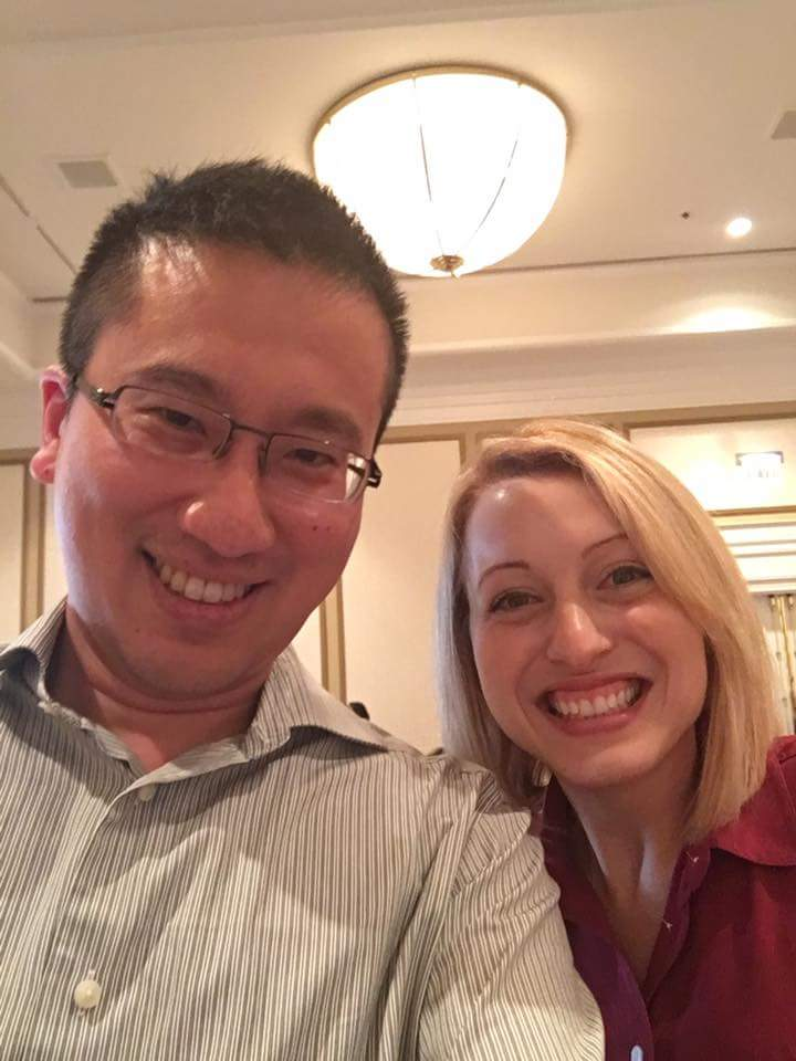 侯勝文與Jess Mason於2016 ACEP Teaching Fellowship時合影