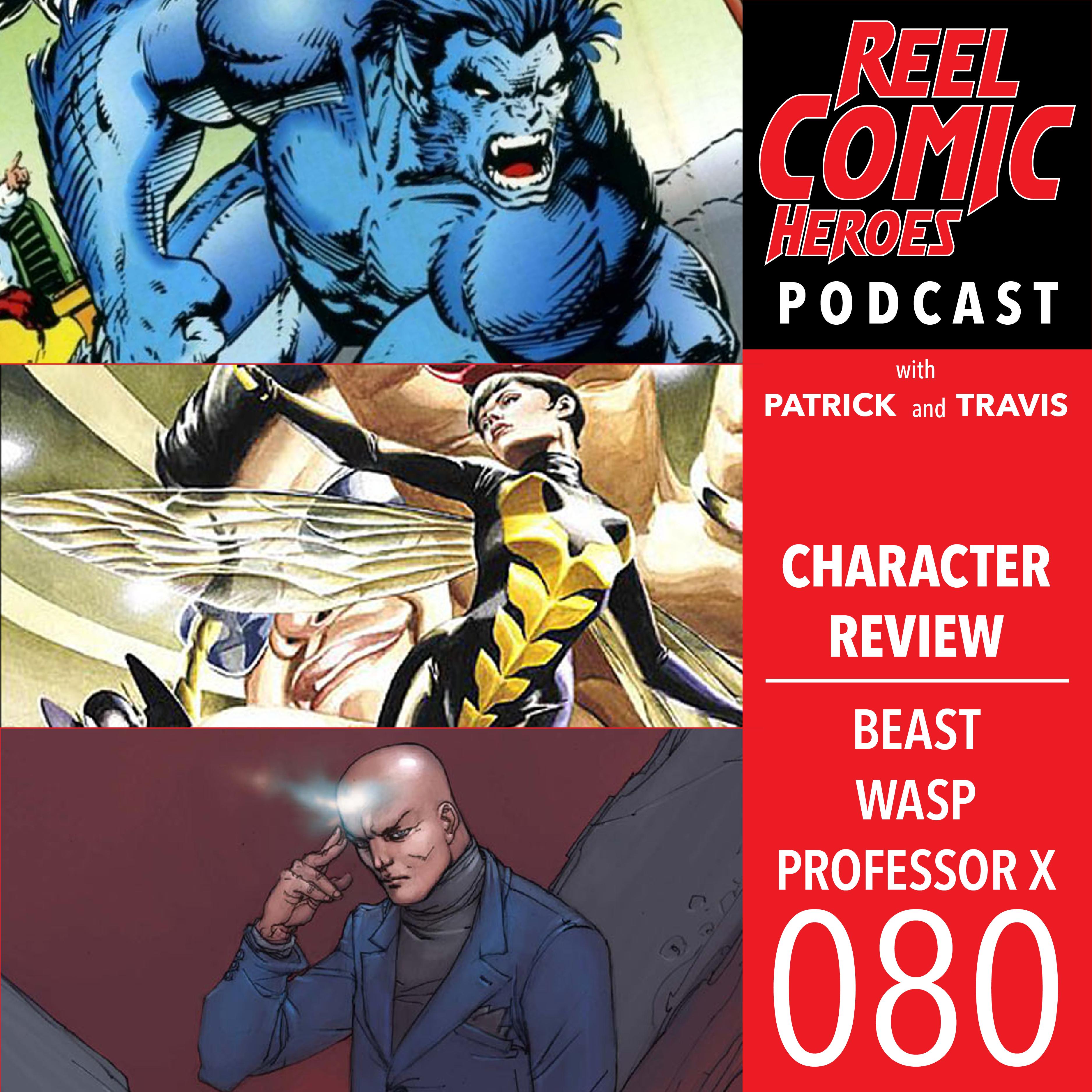Artwork for Reel Comic Heroes 080 - Beast, Wasp & Professor X
