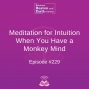Artwork for Meditation for Intuition When You Have a Monkey Mind - Episode #229