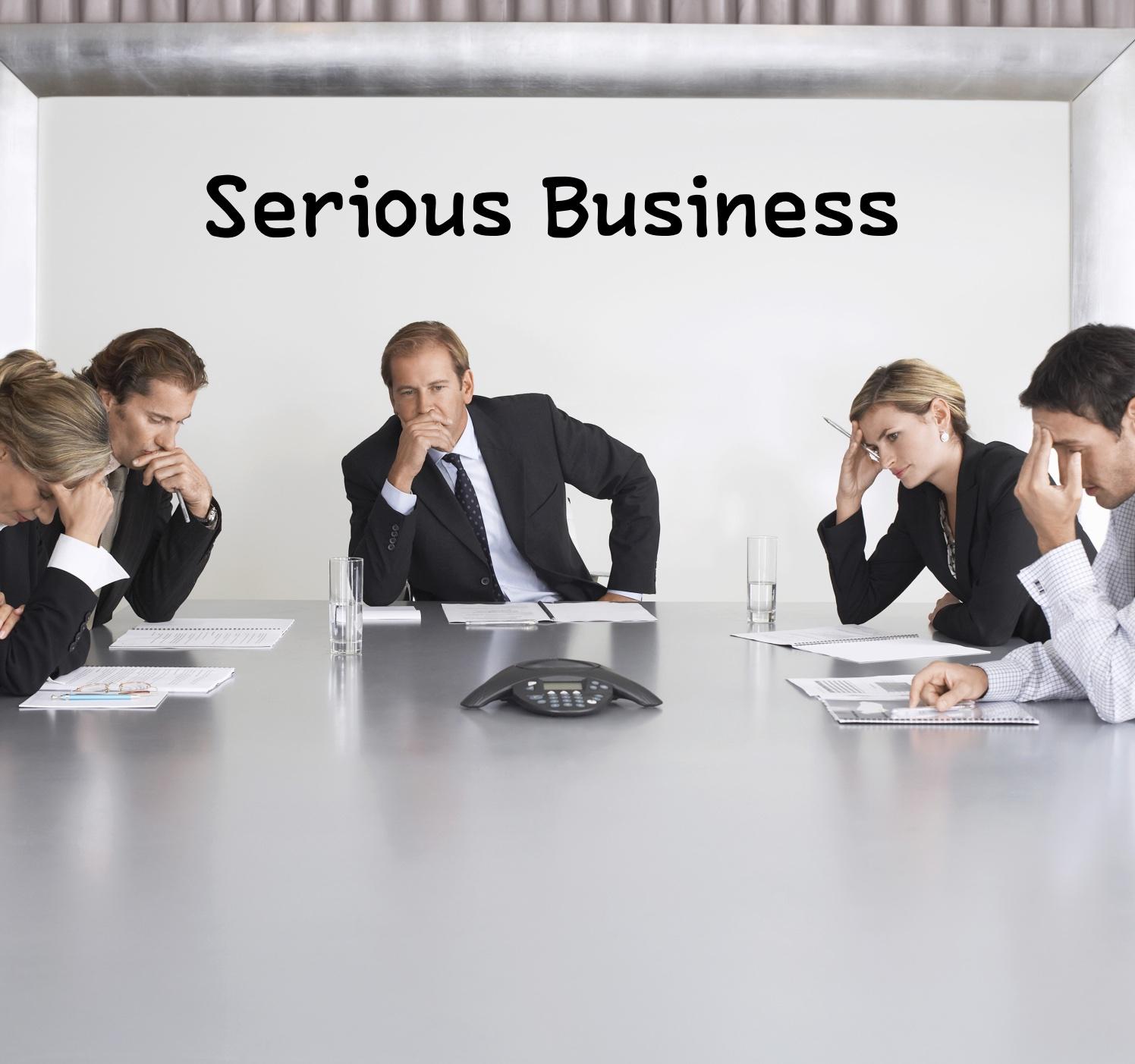 Serious Business show art