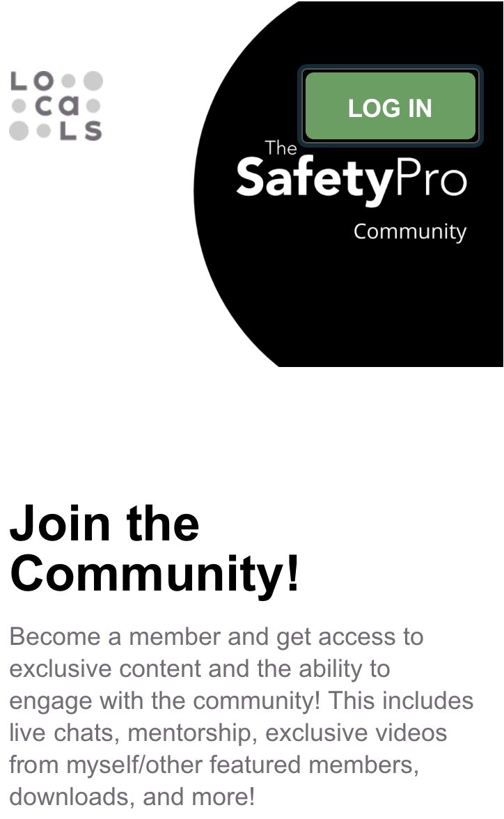 SafetyPro Community