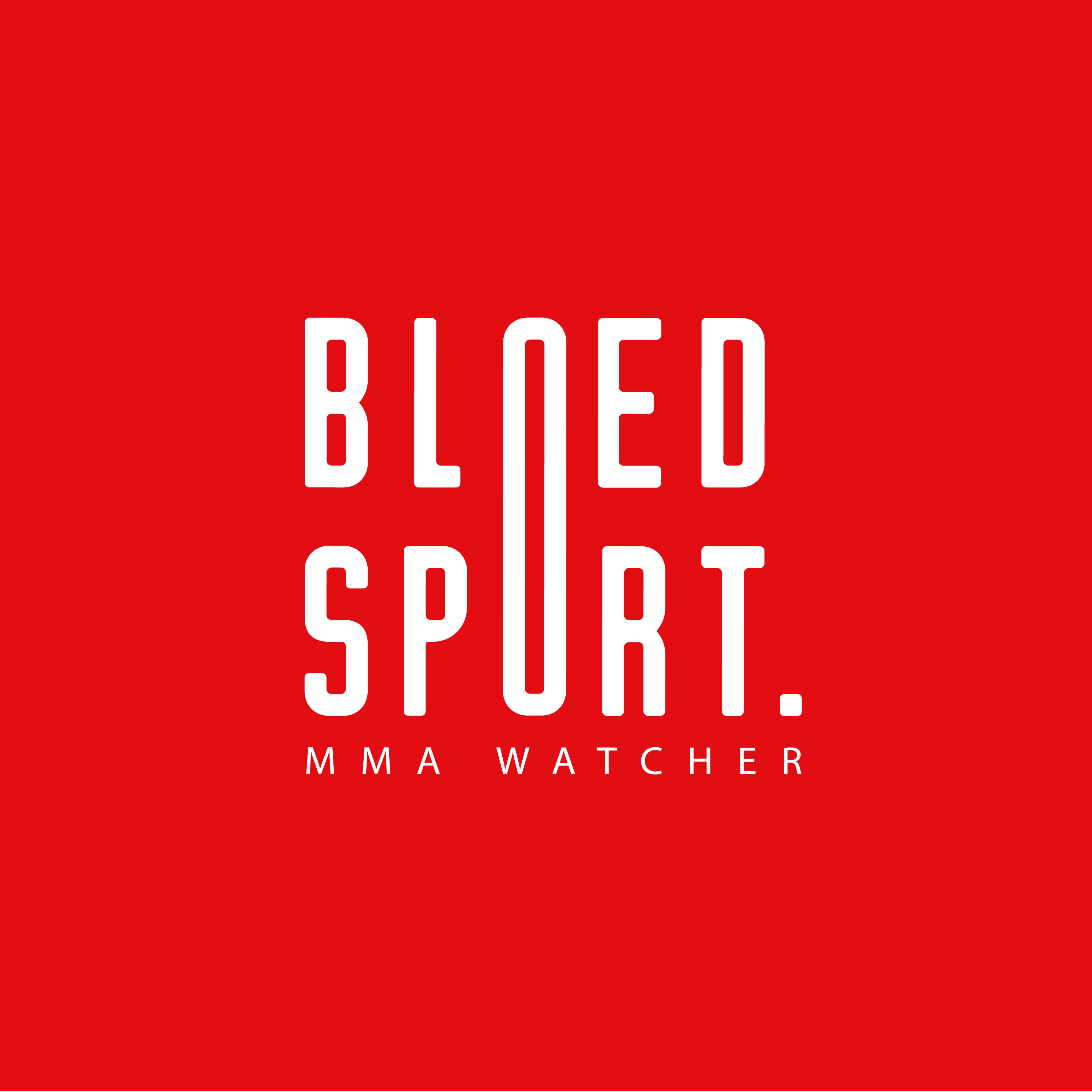 Bloedsport MMA Watcher podcast logo