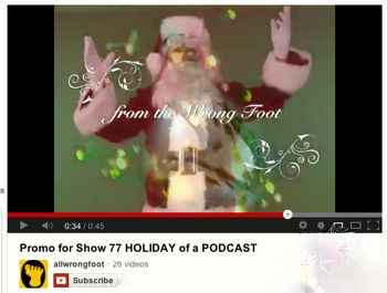 Promo for Show 77 -- Holiday of a Podcast