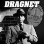 "Artwork for DRAGNET RADIO SHOW 1949  "" THE RED LIGHT BANDIT"" and ""THE CITY HALL BOMBING"""