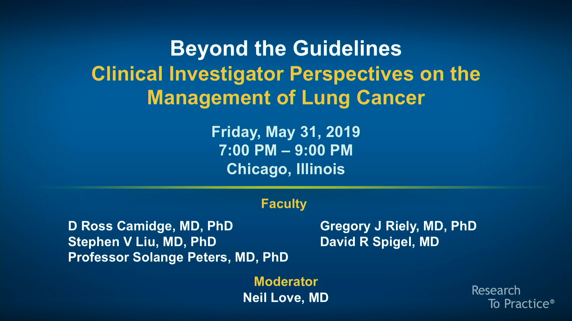 Artwork for Lung Cancer | Beyond the Guidelines: Clinical Investigator Perspectives on the Management of Lung Cancer