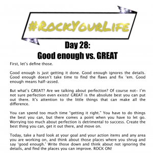 DAY 28 #RockYourLife!
