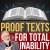Proof-texts for Total Inability show art