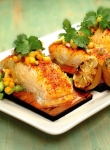 Recipe of the Week: Planked Saffron Halibut with Avocado and Tropical Fruit Salsa