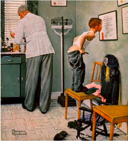 Norman Rockwell Doctor 1958