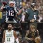 Artwork for New England Patriots Advance To Super Bowl | Boston Celtics & Cleveland Cavaliers Slide