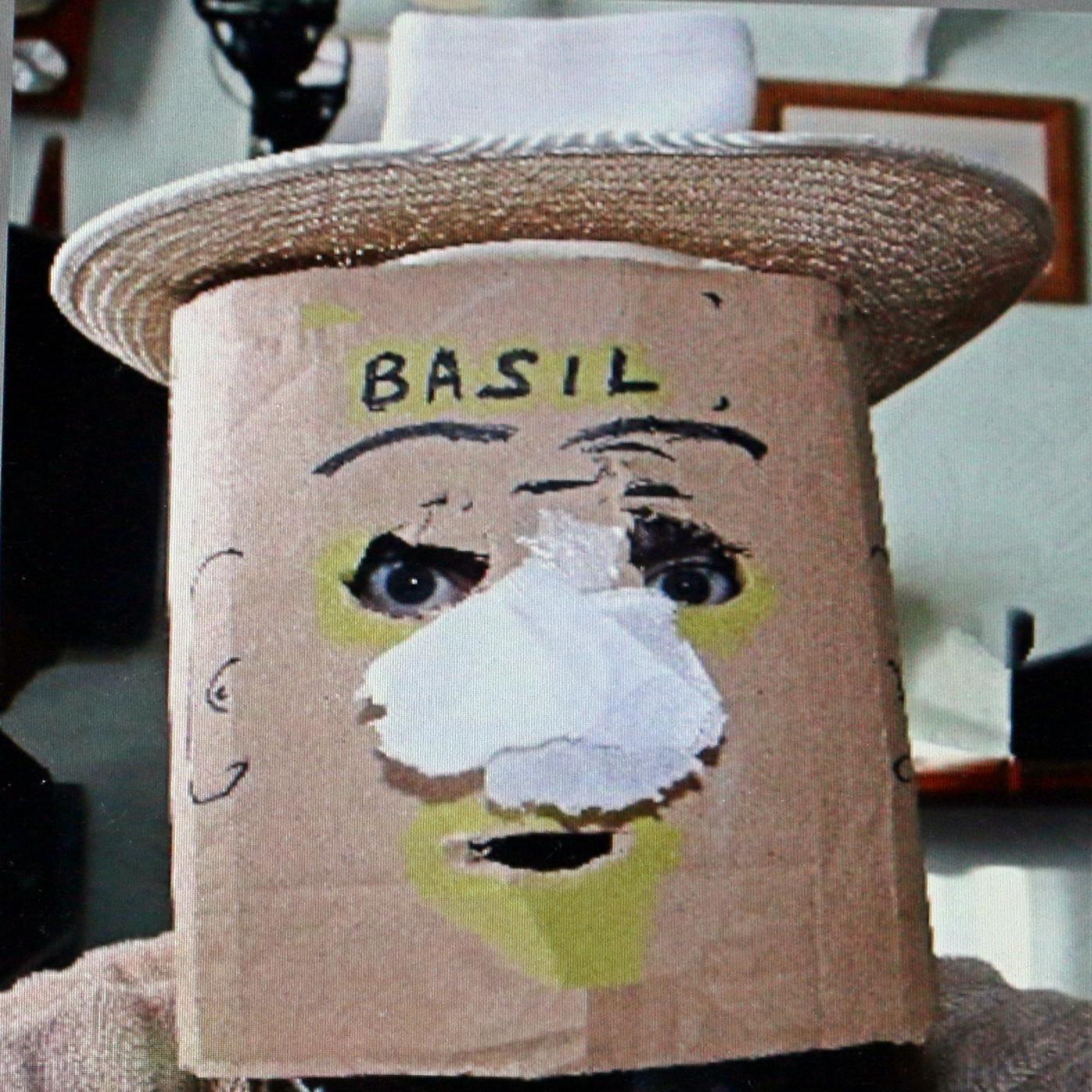 Artwork for the basil bottler show - the queens christmas message from basil bottler