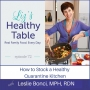 Artwork for 72: How to Stock a Healthy Quarantine Kitchen with Leslie Bonci, MPH, RDN