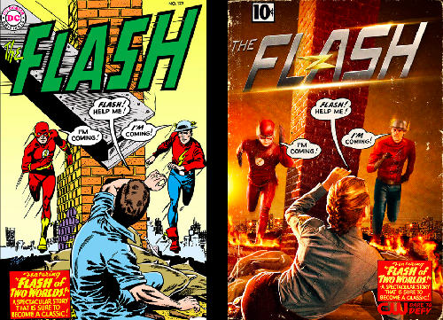 Crimson Comet #37 The Flash 2x02 Flash of Two Worlds