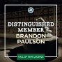 Artwork for 2019 Distinguished Member Brandon Paulson