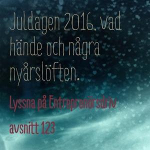 123 Juldagen 2016 - vad hände och några nyårslöften