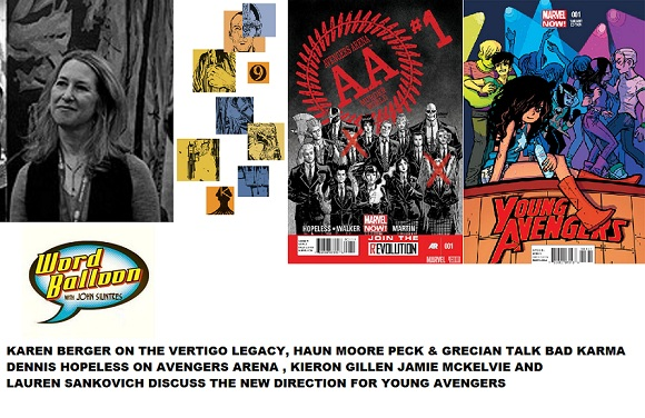 Karen Berger Says Bye To Vertigo, Haun Moore Grecian & Peck On Bad Karma, Hopeless On Avengers Arena, and Gillen ,McKelvie, and Sankovich Talk Young Avengers