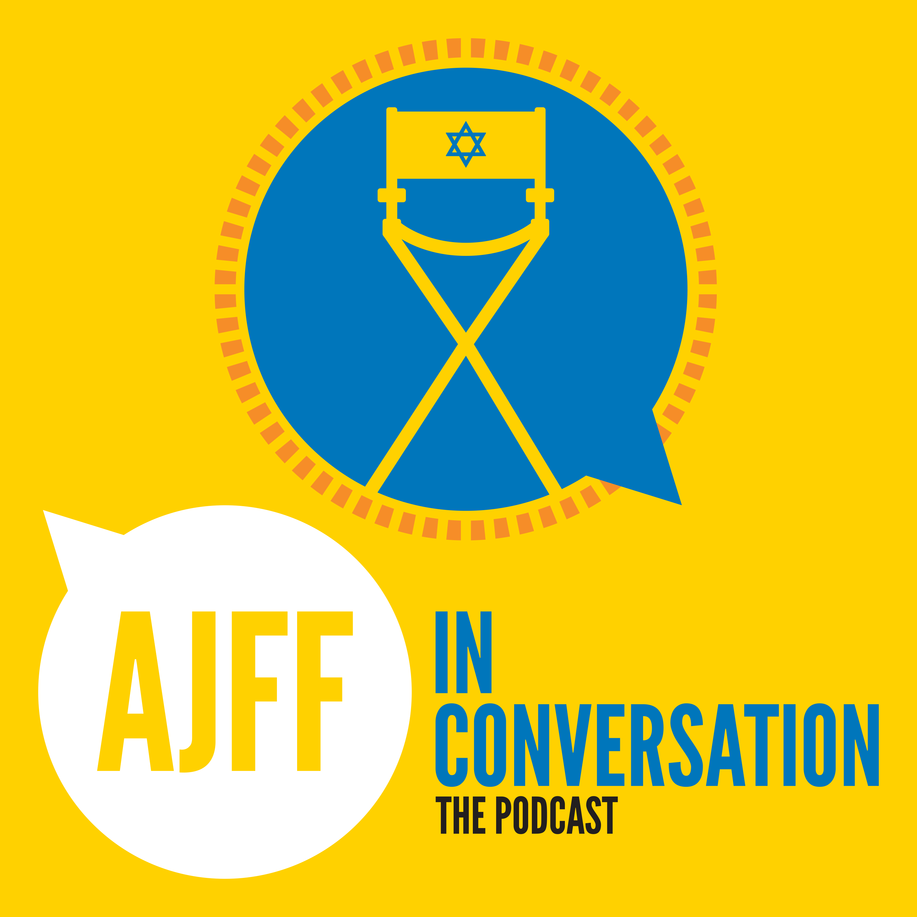 AJFF In Conversation: The Jewish Film Podcast show art