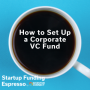 Artwork for Startup Funding Espresso -- How to Set Up a Corporate VC Fund