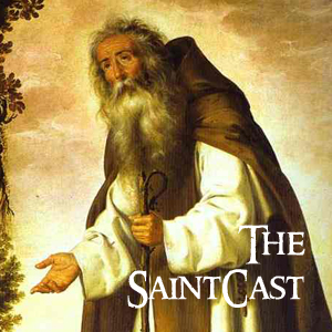 SaintCast #86, St. Anthony of the Desert, Patron Saints Index, iphone ad spoof, grade school hoops, feedback +1.312.235.2278