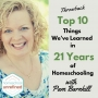 Artwork for Throwback: Top 10 Things We've Learned In 21 Years of Homeschooling With Pam Barnhill